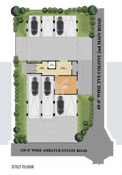 Top Of Bottom Floor Elevation Certificate : Radiance aikya in anna nagar chennai price floor plans
