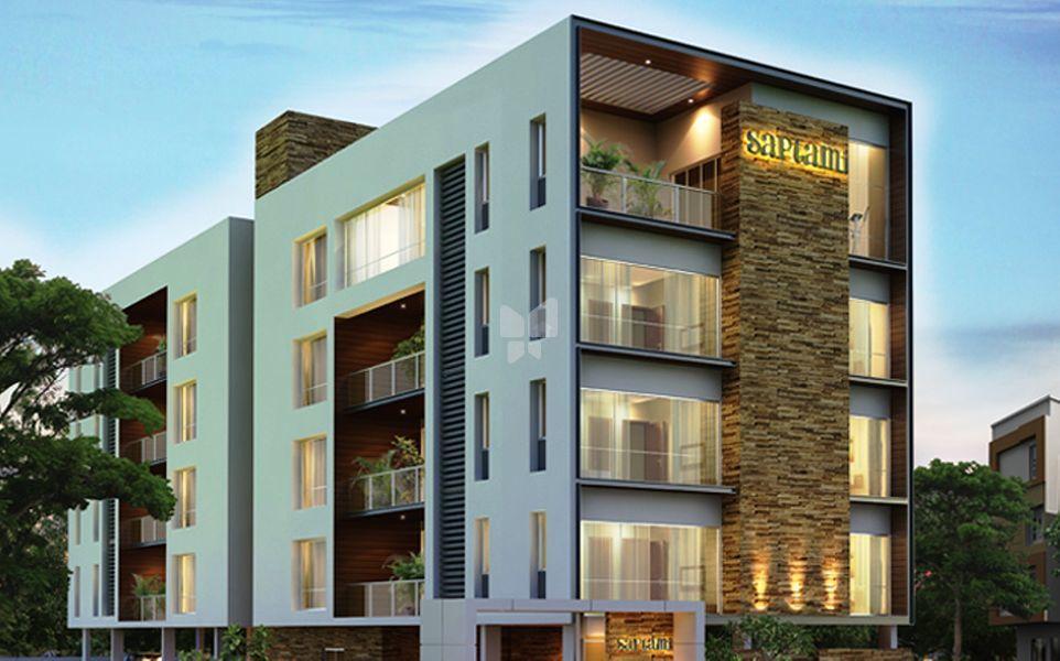 Two Floor Apartment Elevation : Etica saptami in ra puram chennai roofandfloor