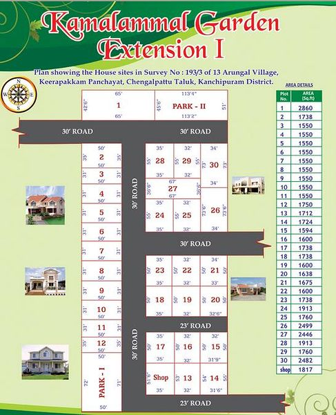 ATS Kamalammal Garden Extension I - Master Plan