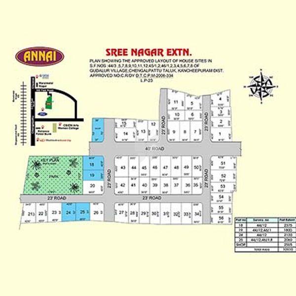 Annai Shree Nagar - Master Plan