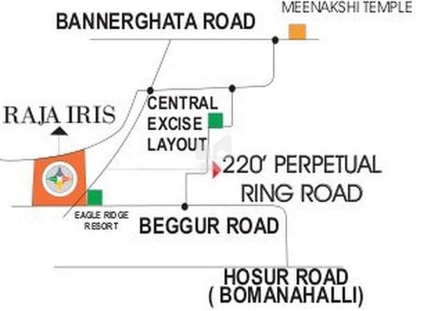 Raja Uday Iris - Location Maps