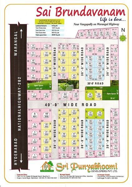 Sri Punyabhoomi Sai Brundavanam - Master Plans