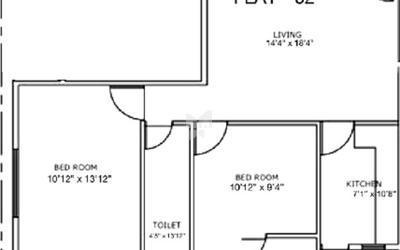 aryana-bells-in-jp-nagar-7th-phase-floor-plan-2d-wja
