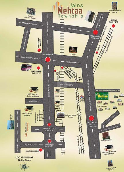 Jains Mehtaa Township - Location Maps
