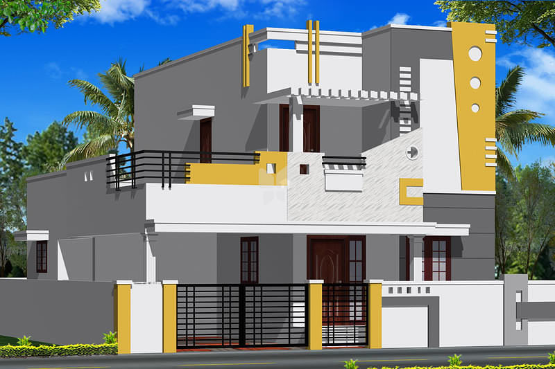 Front Elevation Parapet Wall : Jrd hill view in kovaipudur coimbatore roofandfloor