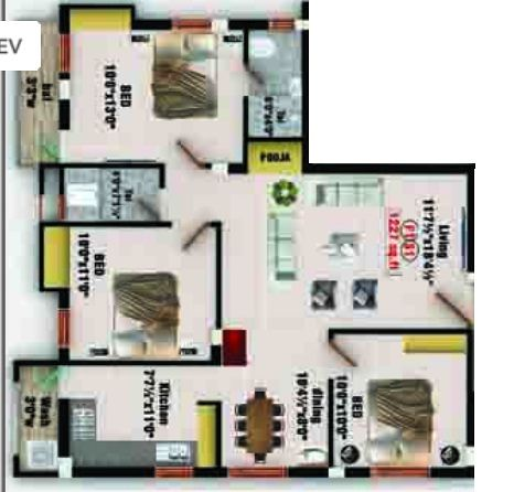 Bb homes balaji nagar in saligramam chennai price for Bb home design