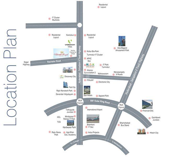 Sukrithi Royal - Location Map