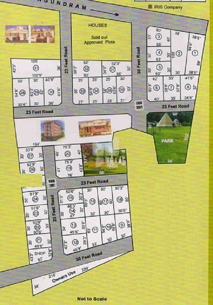 Sri Komadheeswarar Nagar - Master Plan