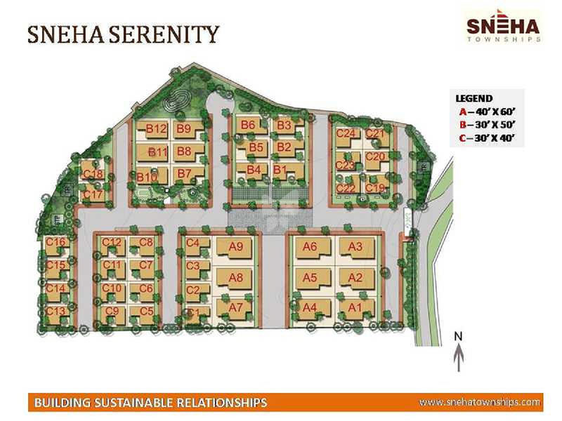 Sneha Serenity - Master Plan