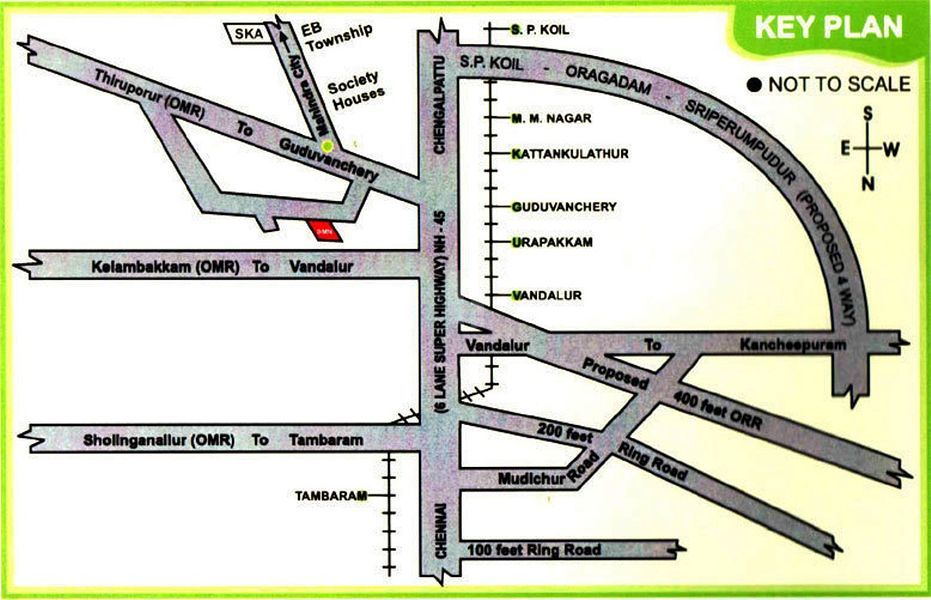 Apex Sri Karpagavinayagar Avenue - Location Maps
