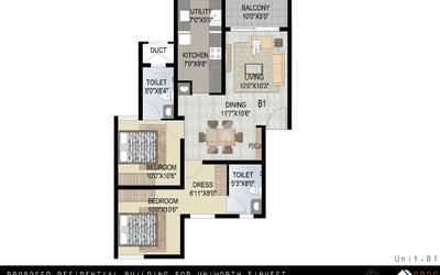 uniworth-serenity-in-kengeri-floor-plan-2d-seg