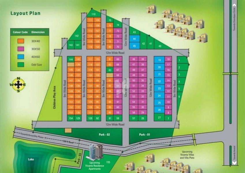 Aashrithaa Vivanta Residence - Master Plan