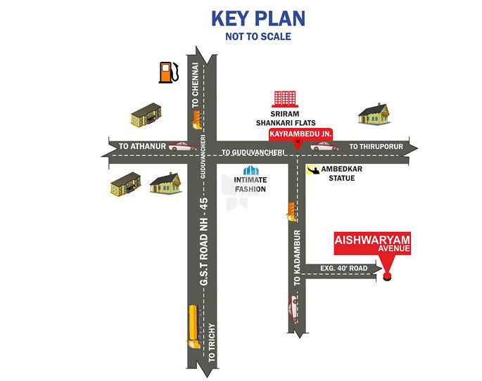 City Aishwaryam Avenue - Location Maps