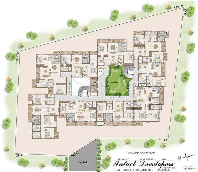 Intact avenue in begur bangalore price floor plans for 100 floors floor 45