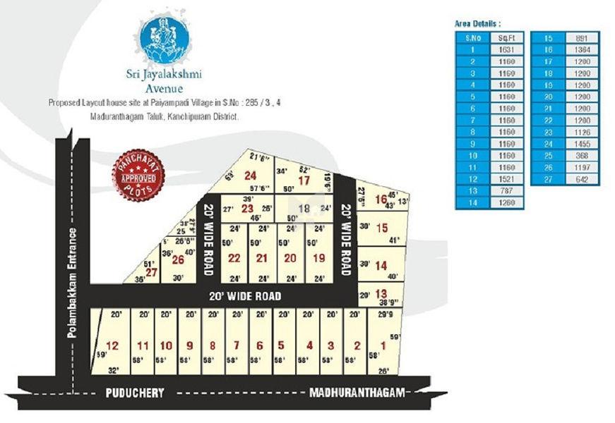 MS Sri Jayalakshmi Avenue - Master Plans