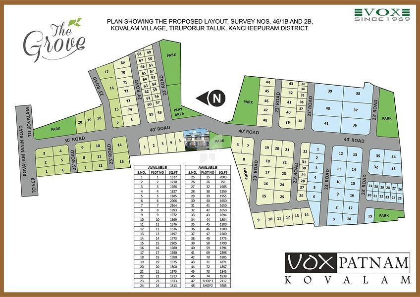 Vox Patnam Grove - Master Plans