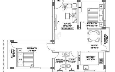 shri-ragav-akshayam-apartments-in-perungalathur-floor-plan-2d-1r11