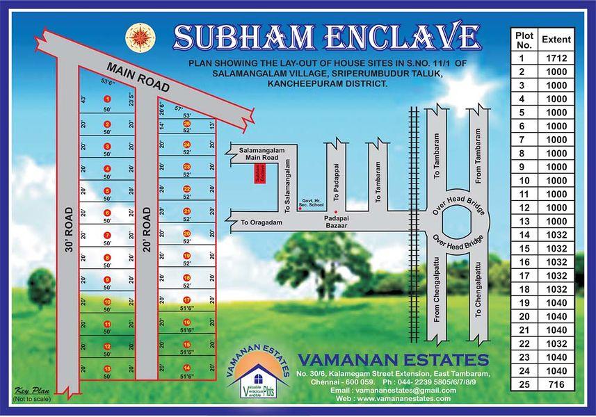 Vamanan Estates Subham Enclave - Master Plan