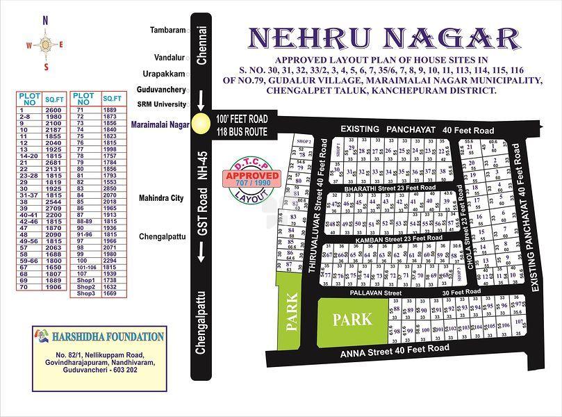 Harshidha Maraimalai Nagar - Master Plan