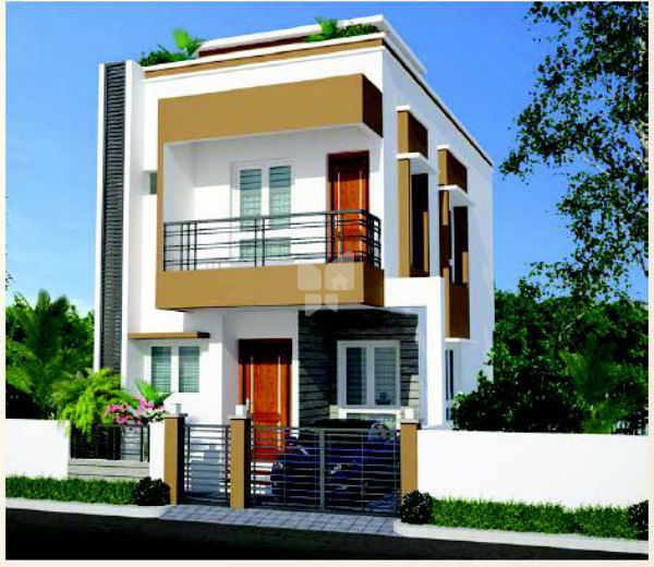 Wood Elevation S : Rich wood in kelambakkam chennai roofandfloor