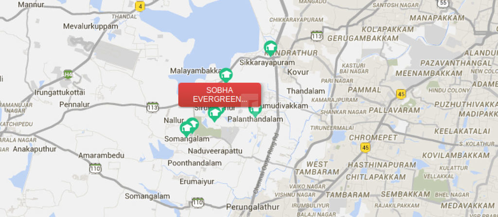 Sobha Evergreens In Kundrathur Chennai Price Floor