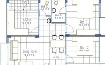 vinayagar-bloom-residency-in-akkayyapalem-floor-plan-2d-wtk