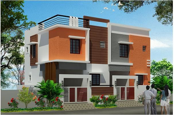 Inforich twin house in madambakkam chennai roofandfloor for Individual house models in chennai