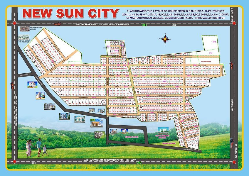 AJE The New Sun City Madharpakkam - Master Plans