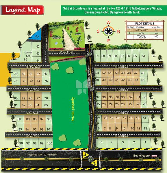 Sri Sai Brundhavan - Master Plan