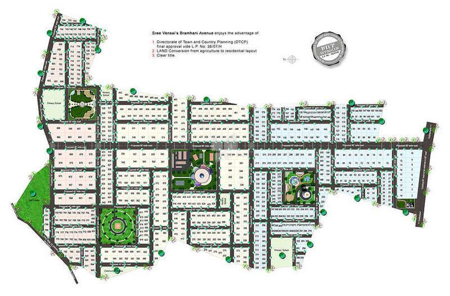 Sree Vensai Bramhani Avenue - Master Plan