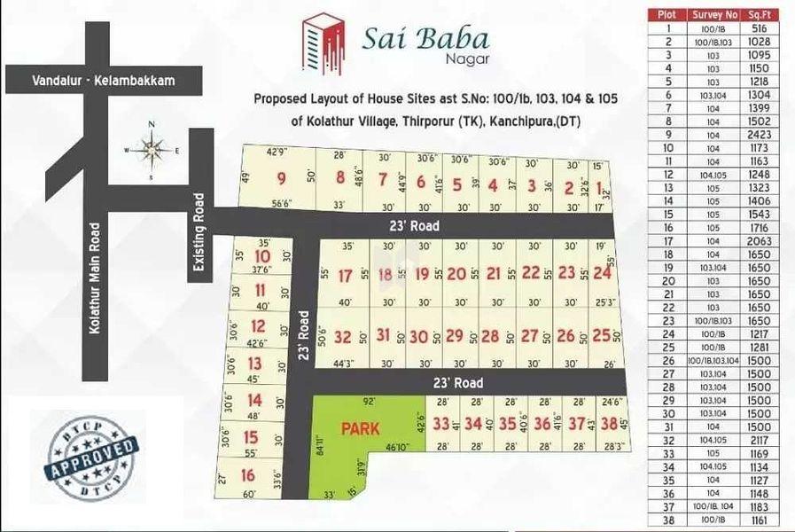Vikaa Sai Baba Nagar - Master Plans