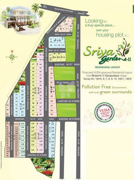 Sriya Gardens - II - Master Plans