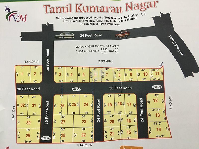 VM Tamil Kumaran Nagar - Master Plans