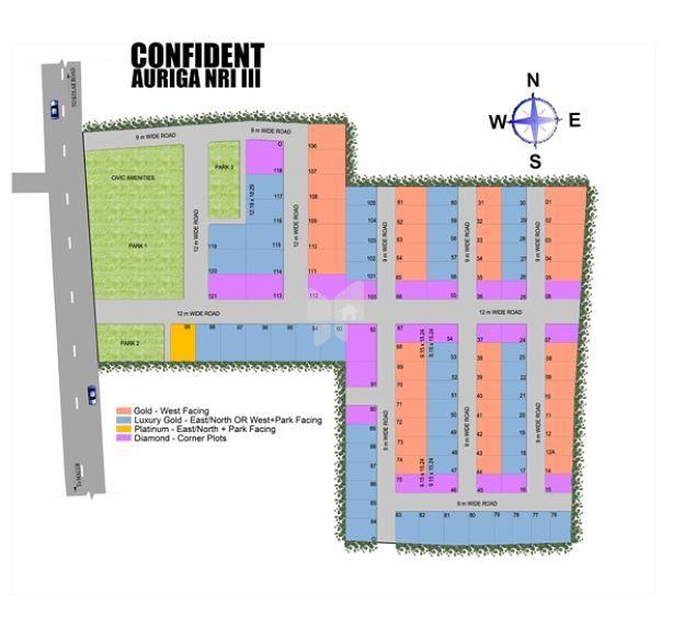 Confident Auriga NRI III - Master Plan