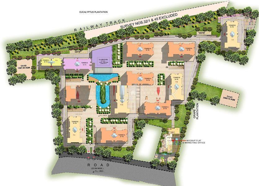 Prashanthi Royal Gardens - Master Plan