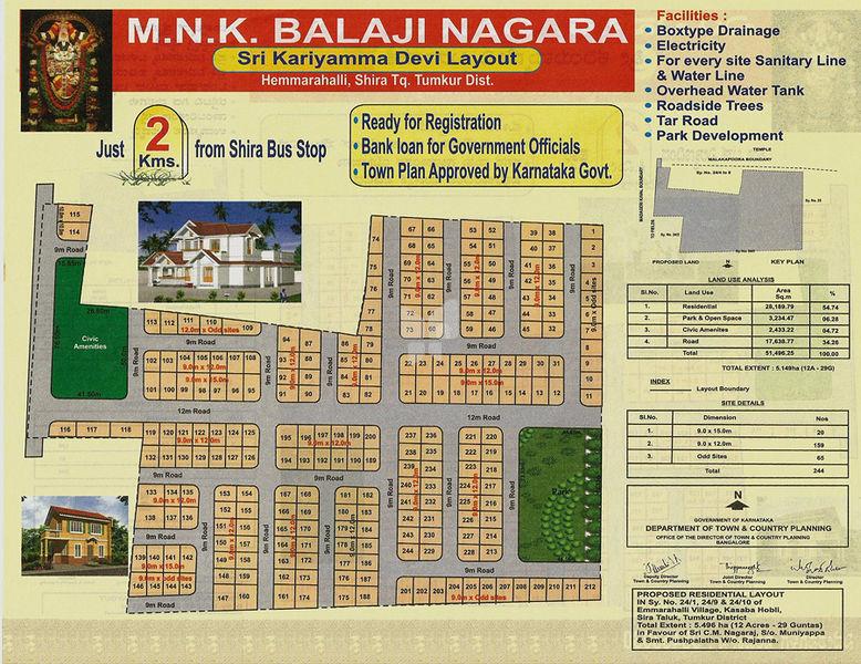 MNK Balaji Nagara - Master Plan
