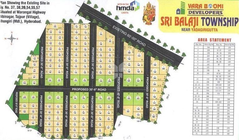 VB Sri Balaji Township @ Tajpur - Master Plan