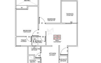pragathi-royal-serene-in-balewadi-floor-plan-2d-1btv