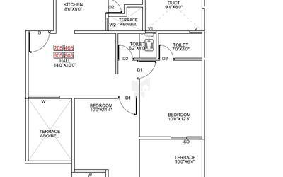 pragathi-royal-serene-in-balewadi-floor-plan-2d-1btx