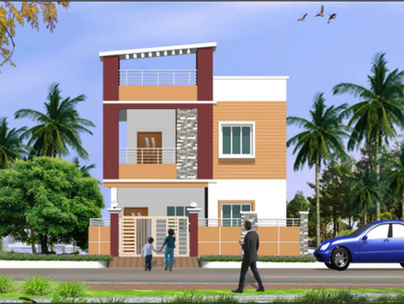 N Home Elevation Duplex : Rc duplex in nallagandla hyderabad price floor plans