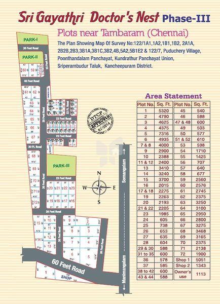 Altis Sri Gayathri Doctors Nest Phase III - Master Plan