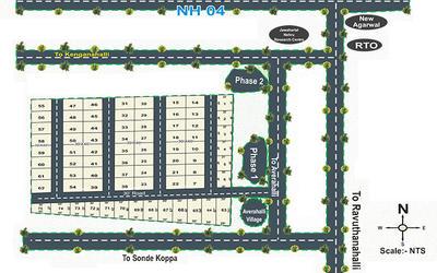akmaxx-model-village-in-tumkur-road-master-plan-dnd
