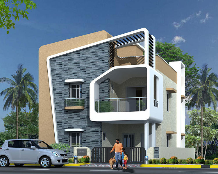 2 Floor Villas Elevation : Libdom luxury villas in bandlaguda hyderabad price