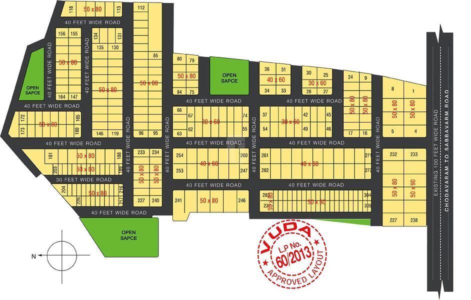 Charan Sai Brindavanam Sabbavaram - Master Plan