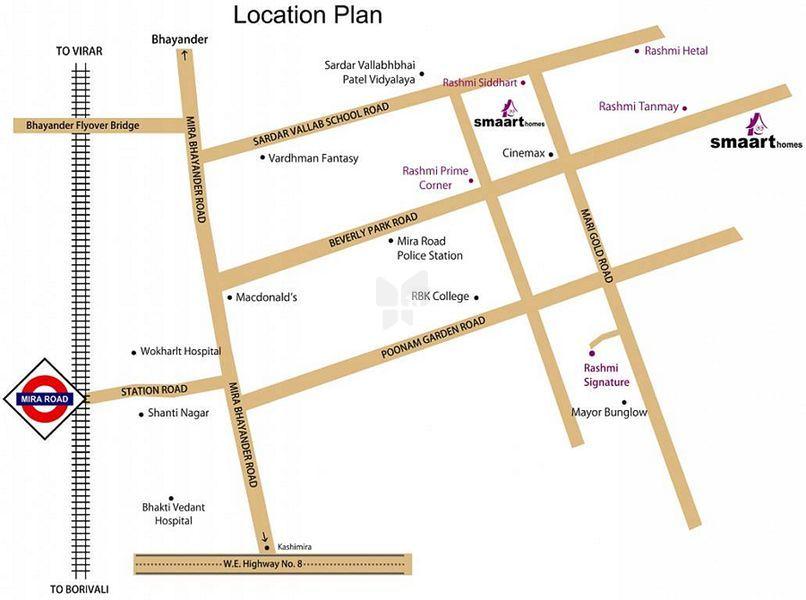 Rashmi Smaart Homes Mira Road - Location Maps