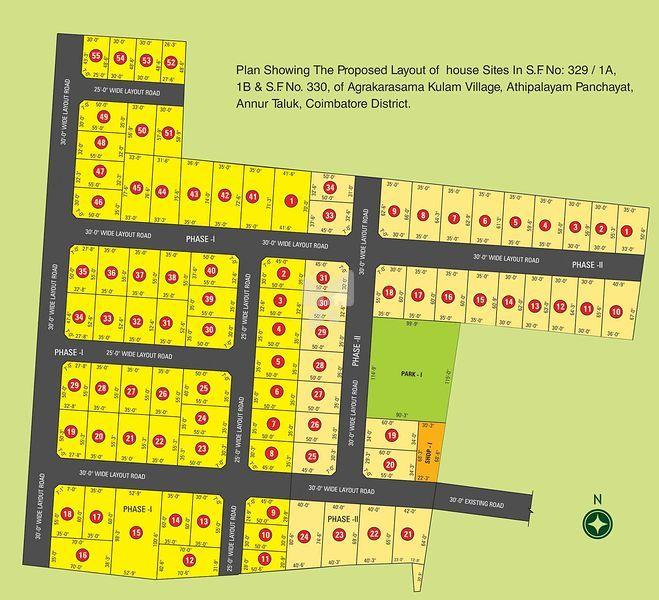 Vanavil Nagar - Master Plans