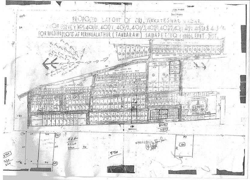 VVK Venkateshwara Nagar - Master Plan